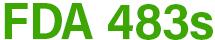 FDA 483s Logo